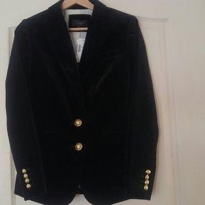 J.Crew velvet blazer